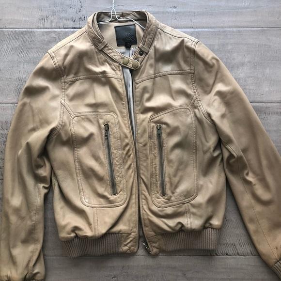 577876780 Joie camel color lamb skin leather bomber jacket